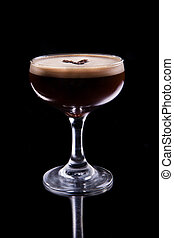 Alcoholic coffee cocktail