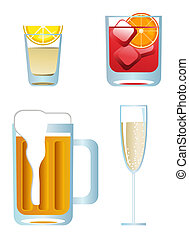 Alcoholic Drinks - Clip-arts of alcoholic drinks