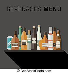 Alcoholic drinks menu