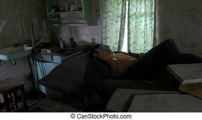 alcoholic sleeps