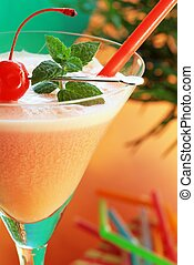 Alcoholic recreational drink with cherry