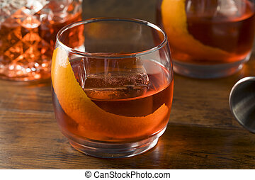 Alcoholic Red Negroni Cocktail