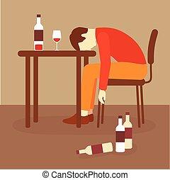 alcoholism, alcohol addiction, drunk alcoholic, depression problem
