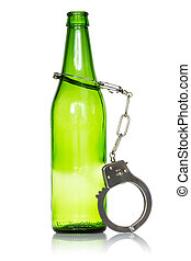 Bottle and handcuffs