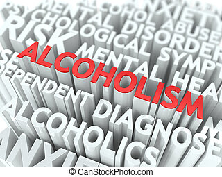 alcoholism., de, wordcloud, concept.