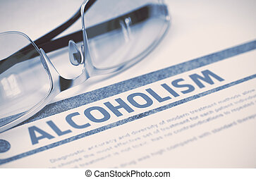alcoholism., medicine., illustration., 3