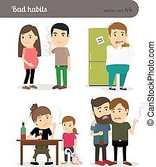 Alcoholism, smoking and gluttony