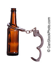 alcoholism with handcuff