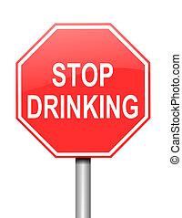 alcoholisme, concept.