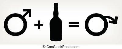 alcoholismo, plomos, a, impotencia