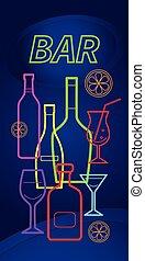 alcool, bouteilles, isolé