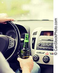 alcool, conduite, voiture, quoique, boire, homme