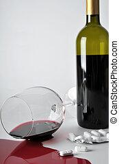 alcool, et, pilules
