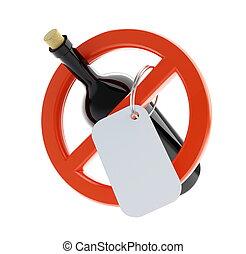 alcool, non, signe