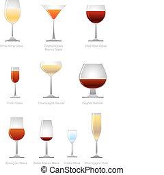 alcoolique, collection, boisson