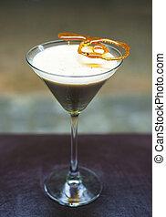 alcoolique, crème, cocktail, brulee, boisson