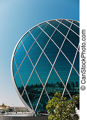 Aldar headquarters building is the first circular building of its kind in the Middle East in Abu Dhabi, UAE