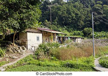 aldea, casa, en, hong kong