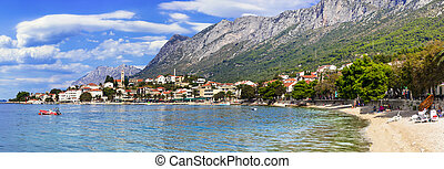 aldea, -, gradac, mar, croacia, pintoresco