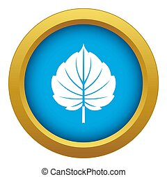 Alder leaf icon blue isolated