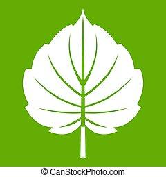 Alder leaf icon green