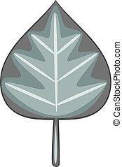 Alder leaf icon monochrome