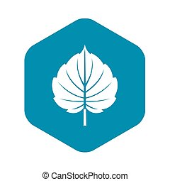 Alder leaf icon, simple style