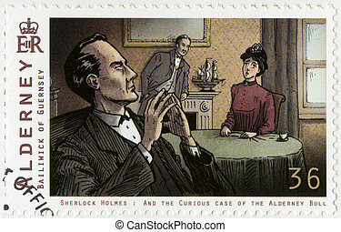 ALDERNEY - 2009: shows Sherlock Holmes - ALDERNEY - CIRCA...