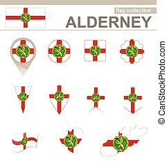 Alderney Flag Collection, 12 versions