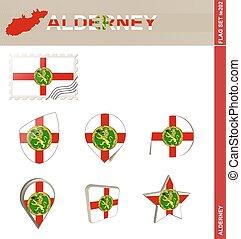 Alderney Flag Set, Flag Set #202