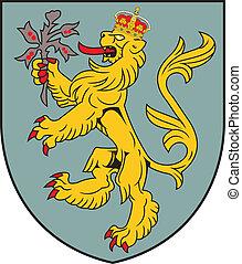 Alderney island coa - Various vector flags, state symbols,...