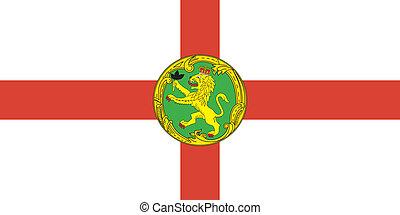 Alderney island flag