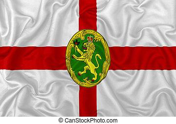 Alderney islands flag