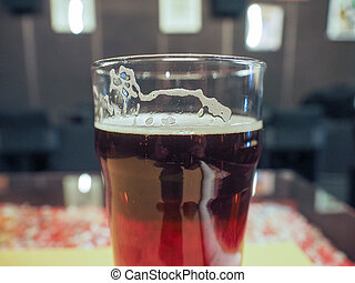 Ale beer - A pint of English ale beer in a pub
