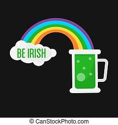Ale beer mug for Saint Patrick day Irish holiday vector