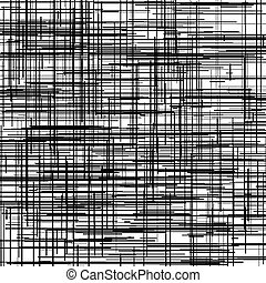 aleatorio, líneas, abrasión, bosquejo, áspero, irregular, garabato, texture., sketchy