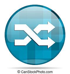 aleatory blue round modern design internet icon on white background