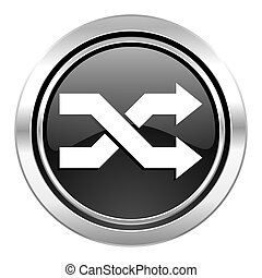 aleatory icon, black chrome button
