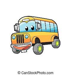 alegre, autocarro, personagem