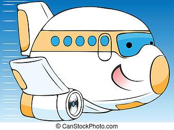 alegre, avião, caricatura