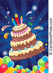 alegre, cartão aniversário