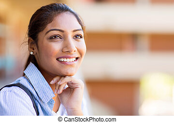 alegre, daydreaming, indianas, universidade, menina