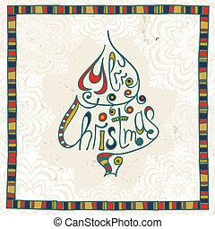alegre, felicitación, tarjeta de navidad