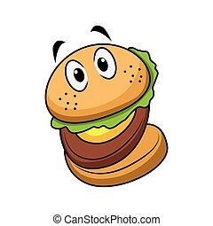 alegre, hamburger, personagem