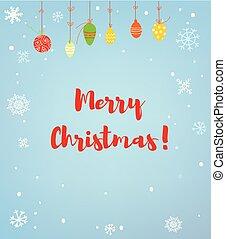 alegre, ilustración, o, plano de fondo, tarjeta de navidad