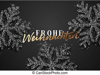 alegre, navidad., alemán, inscription., frohe, weihnachten.
