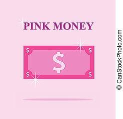 alegre, orgulho, rosa, rosa, dinero, lgbt, dinheiro, ...