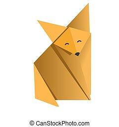 alegre, origami, raposa
