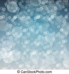 alegre, snow., defocused, plano de fondo, caer, navidad