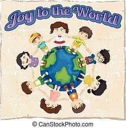 alegria, modelo, mundo